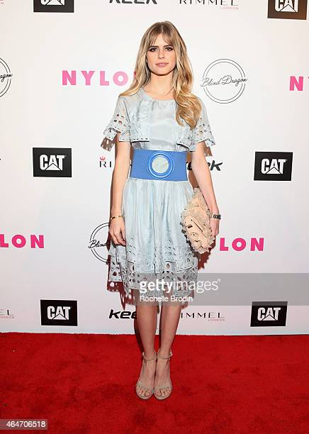 Actress Carlson Young attends NYLON Magazine's Spring Fashion Issue Celebration hosted by Rita Ora at Blind Dragon on February 27 2015 in West...
