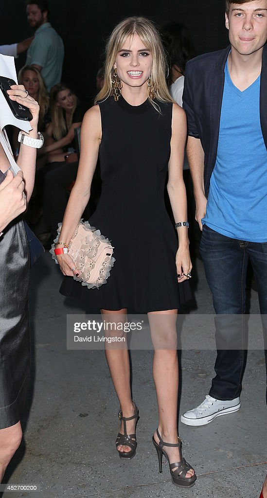 Actress Carlson Young attends the Los Angeles opening night screening of IFC Midnight's 'Premature' at Arena Cinema Hollywood on July 25, 2014 in Hollywood, California.