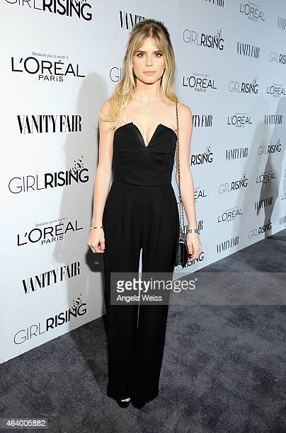 Actress Carlson Young attends VANITY FAIR and L'Oreal Paris DJ Night hosted by Freida Pinto to benefit Girl Rising at 1OAK on February 20 2015 in Los...