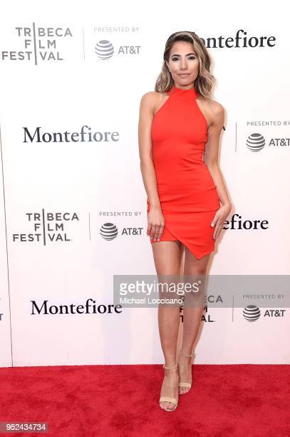 Actress Carly Brooke attends the premiere of Summertime with Tribeca Talks Storytellers during the 2018 Tribeca Film Festival at BMCC Tribeca PAC on...