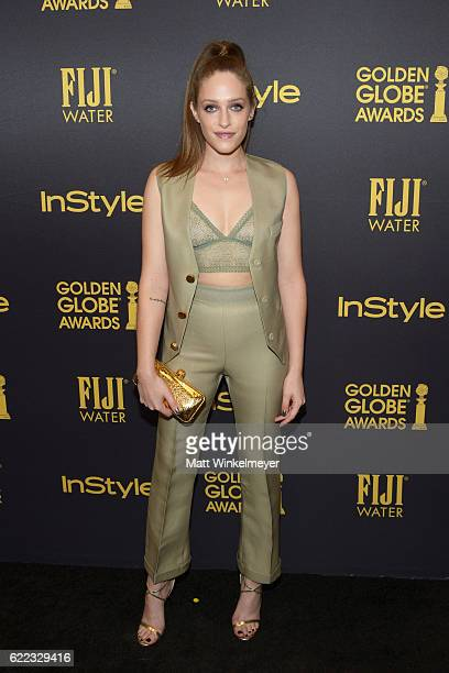 Actress Carly Chaikin arrives at the Hollywood Foreign Press Association and InStyle celebrate the 2017 Golden Globe Award Season at Catch LA on...