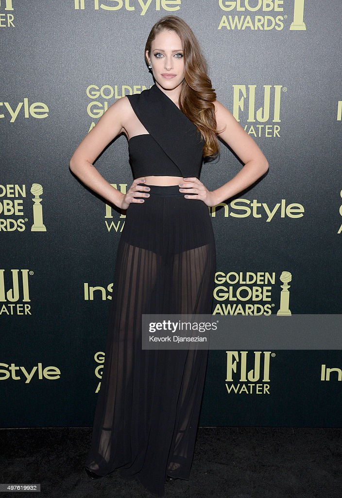 Actress Carly Chaikin attends Hollywood Foreign Press Association and InStyle Celebration of The 2016 Golden Globe Award Season at Ysabel on November 17, 2015 in West Hollywood, California.