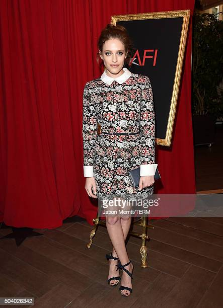 Actress Carly Chaikin attends the 16th Annual AFI Awards at Four Seasons Hotel Los Angeles at Beverly Hills on January 8 2016 in Beverly Hills...