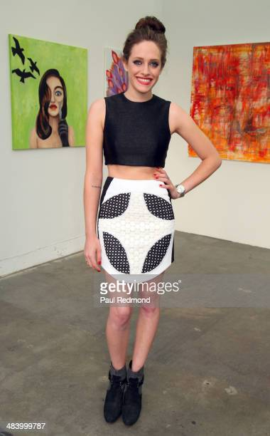 Actress Carly Chaikin attends the debut of her new art collection 'Without Skin' at The Salon at Automatic Sweat on April 10 2014 in Los Angeles...