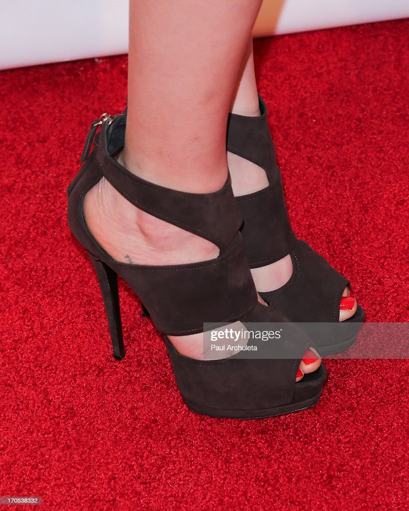 Actress Carly Chaikin (shoe detail) attends the West Coast Liberty Awards celebrating Lambda Legal's 40th anniversary at The London Hotel on June 13, 2013 in West Hollywood, California.