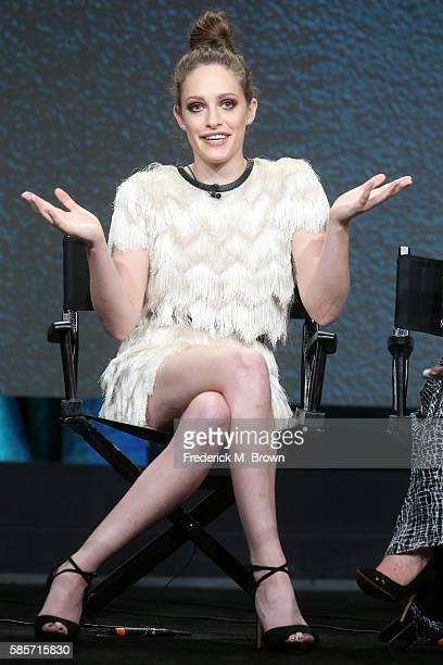 Actress Carly Chaikin speaks onstage at the 'Decoding Season_20 With the Women of Mr Robot' panel discussion during the NBCUniversal portion of the...
