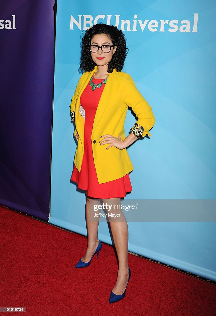 Actress Carly Ciarrocchi attends the NBCUniversal 2015 Press Tour at the Langham Huntington Hotel on January 15, 2015 in Pasadena, California.