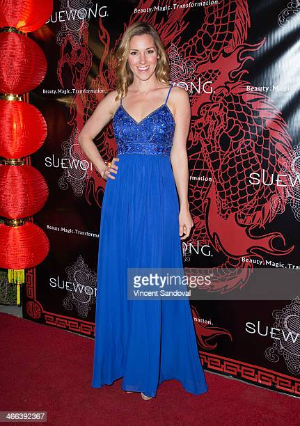 Actress Carly Craig attends Sue Wong hosts party celebrating The Chinese New Year Year of The Horse at The Cedars on January 31 2014 in Los Angeles...