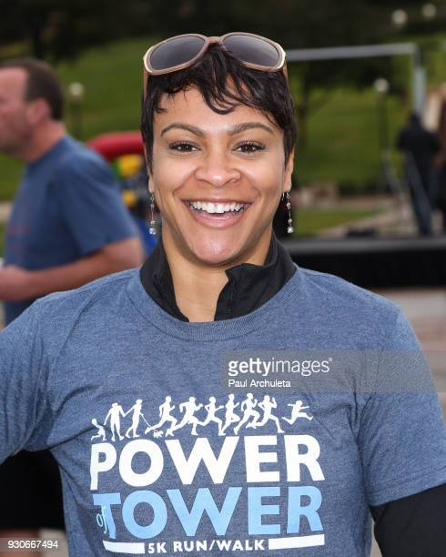 Actress Carly Hughes attends the Power Of Tower run/walk at UCLA on March 11 2018 in Los Angeles California
