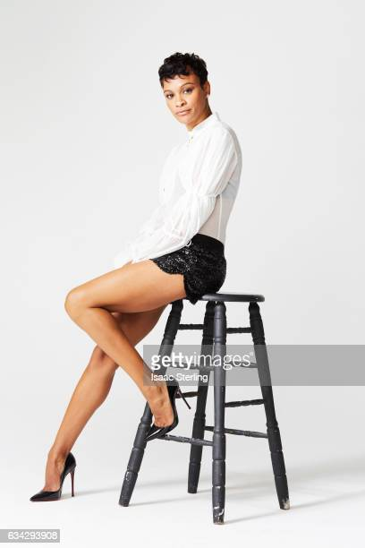 Actress Carly Hughes is photographed for Self Assignment on August 22 2016 in Los Angeles California