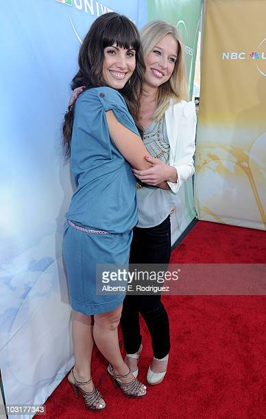 Actress Carly Pope and actress Ellen Woglom arrive to NBC Universal's 2010 TCA Summer Party on July 30, 2010 in Beverly Hills, California.