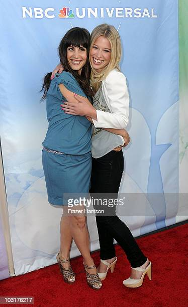Actress Carly Pope and Ellen Woglom arrives at NBC Universal's 2010 TCA Summer Party at the Beverly Hilton Hotel on July 30, 2010 in Beverly Hills,...