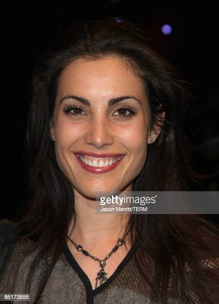 Actress Carly Pope arrives at the Nissan Live Sets on Yahoo Music Anniversary Celebration at FOX Studios Lot on November 27 2007 in Century City...