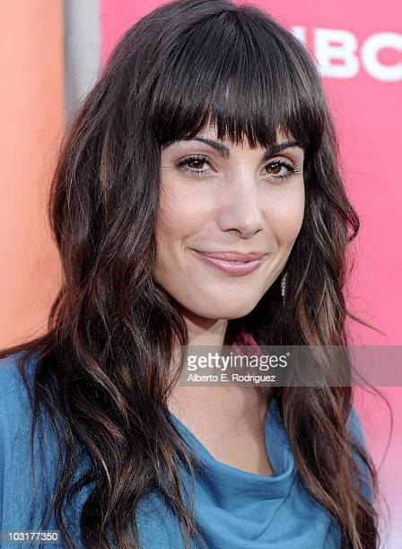 Actress Carly Pope arrives to NBC Universal's 2010 TCA Summer Party on July 30 2010 in Beverly Hills California