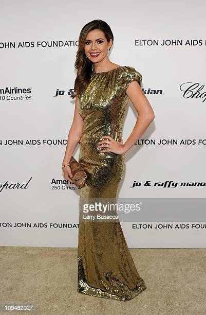 Actress Carly Steel arrives at the 19th Annual Elton John AIDS Foundation Academy Awards Viewing Party at the Pacific Design Center on February 27...
