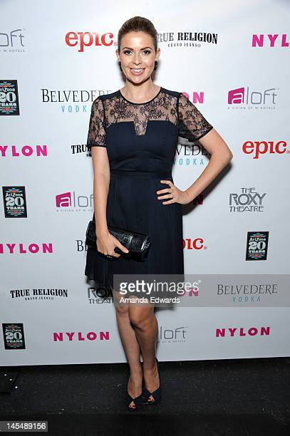 Actress Carly Steel arrives at the NYLON Magazine June/July Music Issue Launch Party With Shirley Manson at The Roxy Theatre on May 30 2012 in West...
