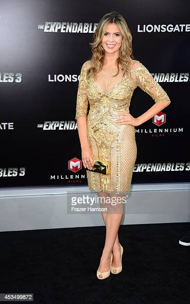 """Actress Carly Steel attends Lionsgate Films' """"The Expendables 3"""" premiere at TCL Chinese Theatre on August 11, 2014 in Hollywood, California."""