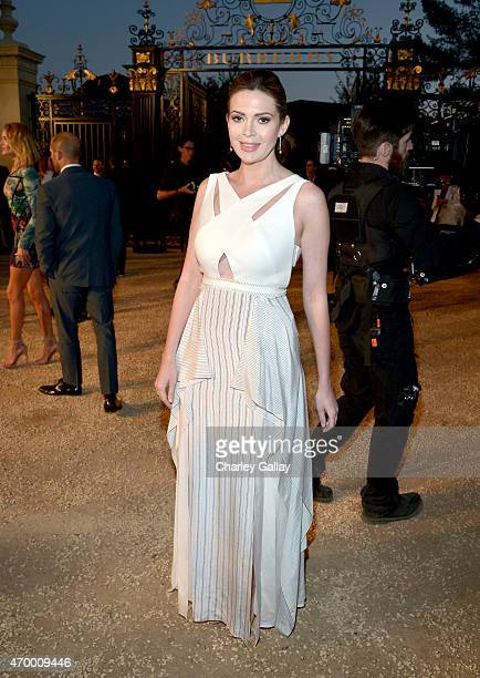 Actress Carly Steel attends the Burberry London in Los Angeles event at Griffith Observatory on April 16 2015 in Los Angeles California