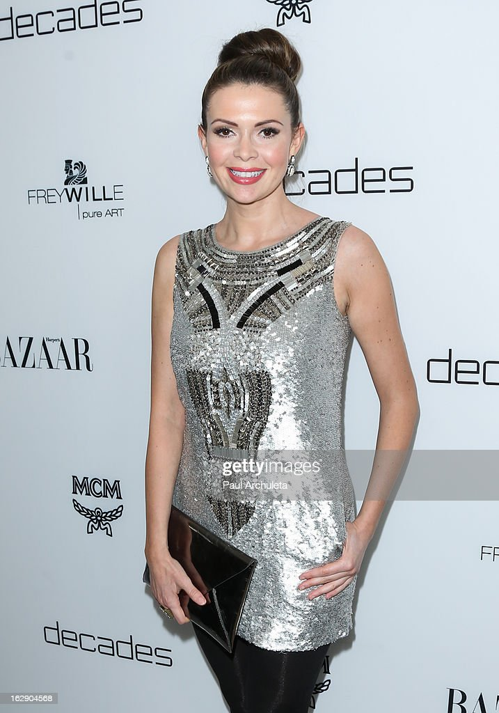 Actress Carly Steel attends the Harper's BAZAAR celebration for the new Bravo series 'Dukes of Melrose' at The Terrace at Sunset Tower on February 28, 2013 in West Hollywood, California.
