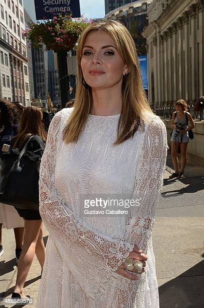 Actress Carly Steel seen around Thomas Wylde Spring 2016 during New York Fashion Week The Shows at The Dock Skylight at Moynihan Station on September...