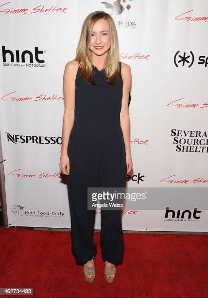 Actress Carly Van Skaik arrives at the screening of Roadside Attractions Day 28 Films Gimme Shelter at the Egyptian Theatre on January 14 2014 in...