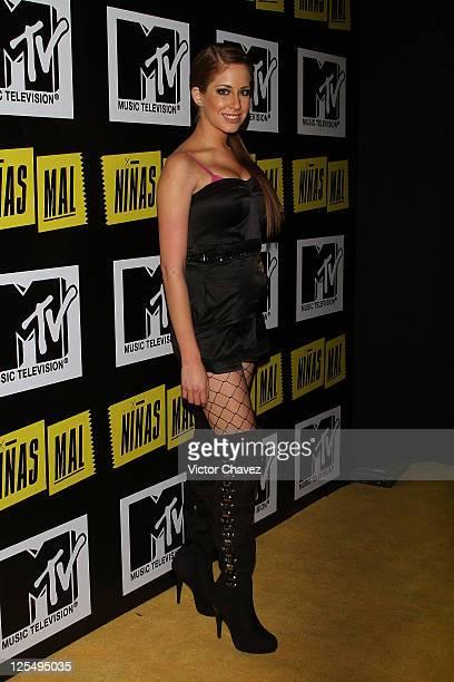 Actress Carmen Aub attends the MTV Niñas Mal soap opera party at Ragga Antara Polanco on December 1 2010 in Mexico City Mexico