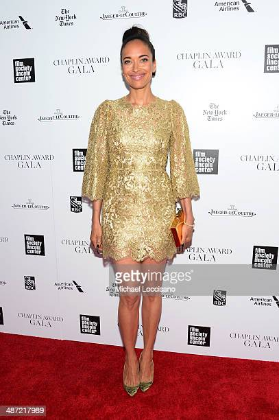 Actress Carmen Chaplin attends the 41st Annual Chaplin Award Gala at Avery Fisher Hall at Lincoln Center for the Performing Arts on April 28 2014 in...