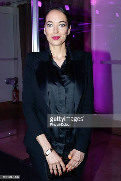 Actress Carmen Chaplin attends the Sidaction Gala Dinner 2015 at Pavillon d'Armenonville on January 29 2015 in Paris France