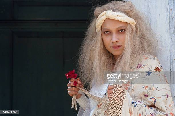 Actress Carmen Chaplin on the set of La Nuit sacree directed by Nicolas Klotz and based on the Tahar Ben Jelloun novel by the same title