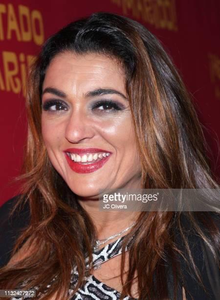 Actress Carmen Diaz attends 'HE MATADO A MI MARIDO' Los Angeles Premiere at Harmony Gold Theatre on February 26 2019 in Los Angeles California