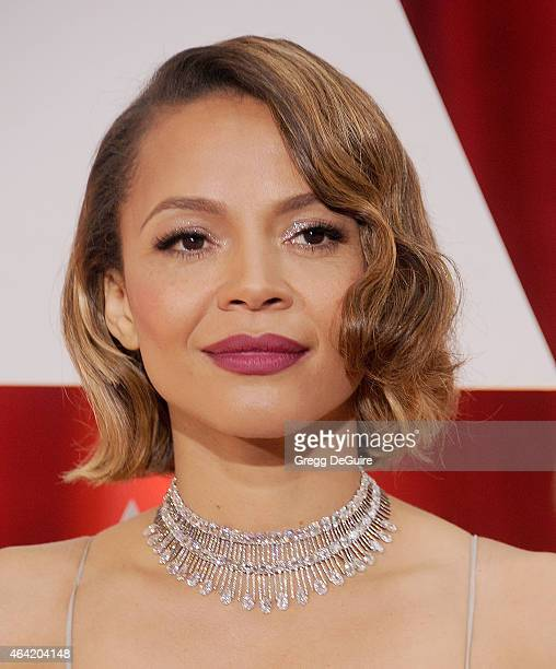 Actress Carmen Ejogo arrives at the 87th Annual Academy Awards at Hollywood Highland Center on February 22 2015 in Hollywood California