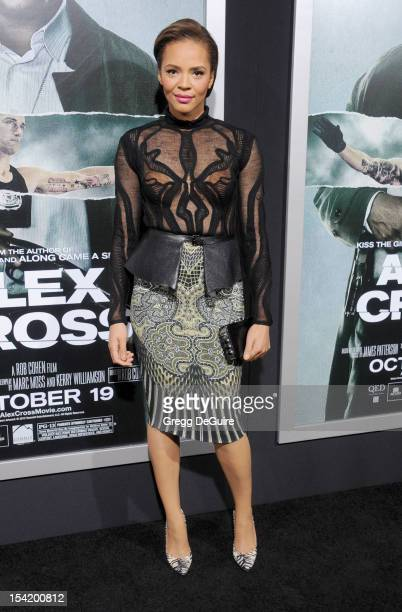 Actress Carmen Ejogo arrives at the Los Angeles premiere of 'Alex Cross' at ArcLight Cinemas Cinerama Dome on October 15 2012 in Hollywood California