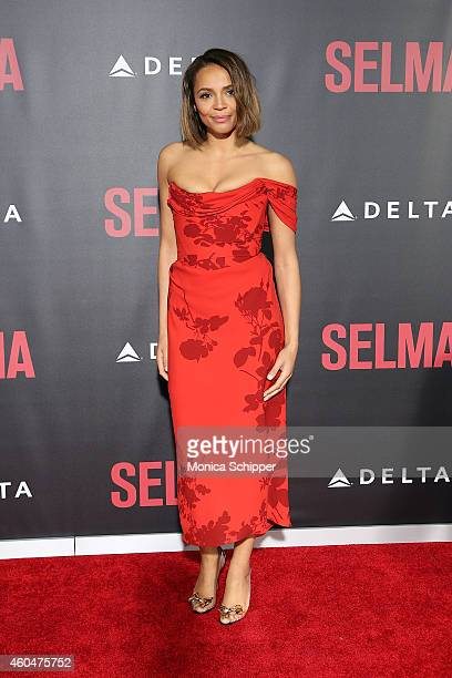 Actress Carmen Ejogo attends Selma New York Premiere Inside Arrivals at Ziegfeld Theater on December 14 2014 in New York City