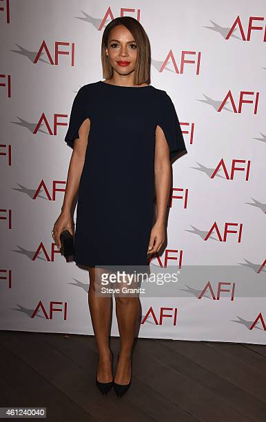 Actress Carmen Ejogo attends the 15th Annual AFI Awards at Four Seasons Hotel Los Angeles at Beverly Hills on January 9 2015 in Beverly Hills...