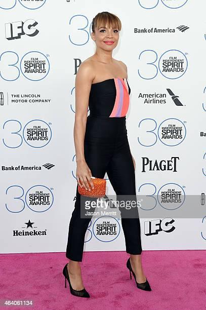 Actress Carmen Ejogo attends the 2015 Film Independent Spirit Awards at Santa Monica Beach on February 21 2015 in Santa Monica California