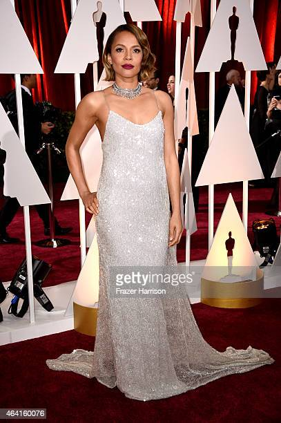 Actress Carmen Ejogo attends the 87th Annual Academy Awards at Hollywood Highland Center on February 22 2015 in Hollywood California