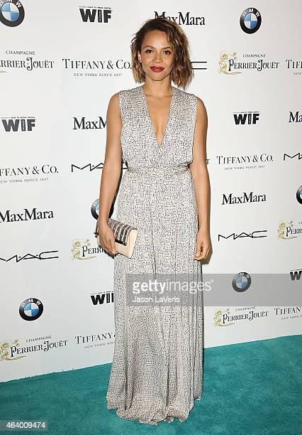 Actress Carmen Ejogo attends the 8th annual Women In Film preOscar cocktail party at HYDE Sunset Kitchen Cocktails on February 20 2015 in West...
