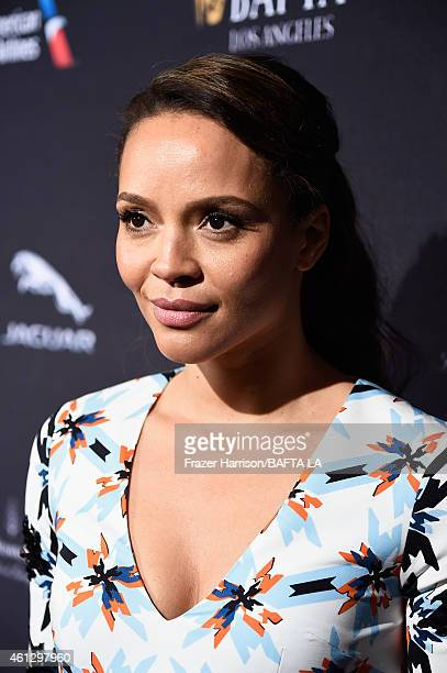 Actress Carmen Ejogo attends the BAFTA Los Angeles Tea Party at The Four Seasons Hotel Los Angeles At Beverly Hills on January 10 2015 in Beverly...