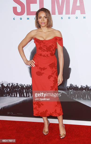 Actress Carmen Ejogo attends the Selma New York Premiere at the Ziegfeld Theater on December 14 2014 in New York City