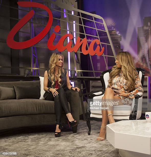 Actress Carmen Electra and TV Host Diana Madison appear on The Lowdown with Diana Madison on November 5 2014 in Hollywood California