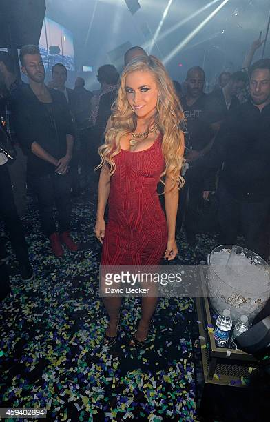 Actress Carmen Electra appears at the Light Nightclub at the Mandalay Bay Resort and Casino on November 21 2014 in Las Vegas Nevada