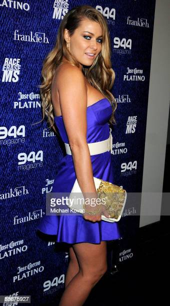 Actress Carmen Electra arrives at 944 Magazine and Platino Penthouse's Frankie B 10 Year Anniversary Party at Andaz Hotel on June 24 2009 in West...