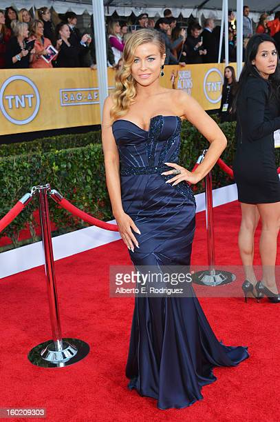 Actress Carmen Electra arrives at the 19th Annual Screen Actors Guild Awards held at The Shrine Auditorium on January 27, 2013 in Los Angeles,...