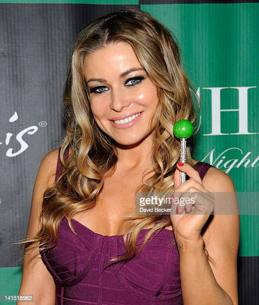 Actress Carmen Electra arrives at the Chateau Nightclub Gardens at the Paris Las Vegas on March 17 2012 in Las Vegas Nevada