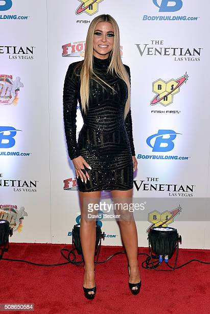 Actress Carmen Electra arrives at the eighth annual Fighters Only World Mixed Martial Arts Awards at The Palazzo Las Vegas on February 5 2016 in Las...