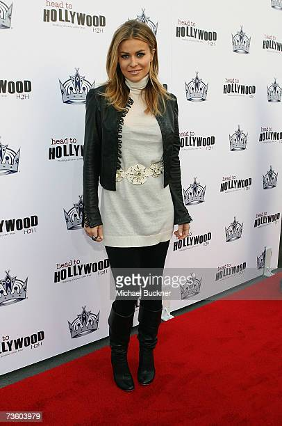 Actress Carmen Electra arrives at the Head To Hollywood Night at the Los Angeles Kings game at the Staple Center on March 15 2007 in Los Angeles...