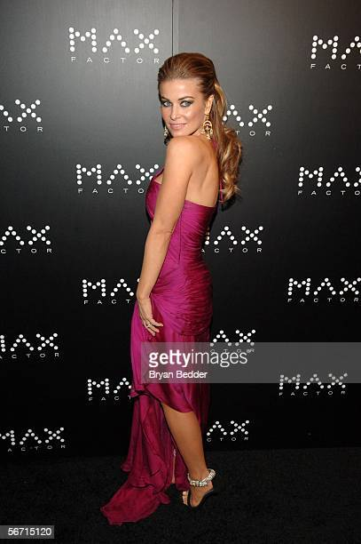 Actress Carmen Electra arrives at the launch party for Max Factor hosted by Carmen Electra January 31 2006 in New York City