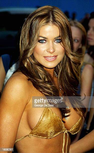 Actress Carmen Electra arrives at the MTV 20 Live and Almost Legal party August 1 2001 at the Hammerstein Ballroom in New York City to celebrate...