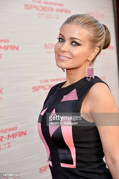 Actress Carmen Electra arrives at the premiere of Columbia Pictures' The Amazing SpiderMan at the Regency Village Theatre on June 28 2012 in Westwood...