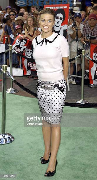 Actress Carmen Electra arrives at the premiere of Project Greenlight 2's The Battle of Shaker Heights at Universal Citywalk on August 11 2003 in...